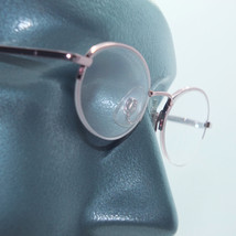 Petite Semi Frameless Bottomless Hint Of Tint Pink +1.00 Reading Glasses - $22.00