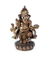 "GANESHA STATUE 7.5"" Standing Hindu Elephant God HIGH QUALITY Bronze Resi... - $68.95"