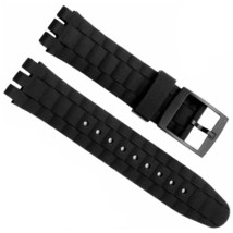 21mm Handmade Waterproof Silicone Swatch Replacement Sport Watch Band Strap - $15.99
