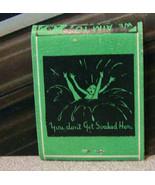 Vintage Matchbook Circa 1940 G9 Saddle Club Aim To Please Don't Get Soak... - $53.99
