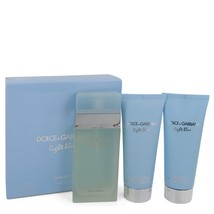 Light Blue Dolce and Gabbana  Gift Set -- 3.3 oz Eau De Toilette Spray +... - $110.00