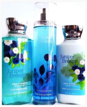 Bath & Body Works Juniper Breeze Body Lotion, Fine Mist, Bath Gel Gift Set of 3 - $25.35