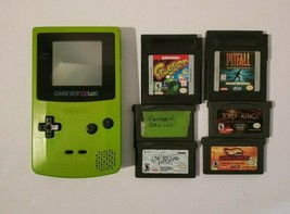 Nintendo Game Boy Color Kiwi Lime Green Handheld GameBoy with Frogger Ba... - $53.41