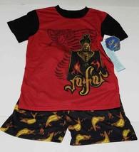 Disney Boys Red Aladdin Vafar Snake 2 Piece Pajama Sleep Set Size XS (LOC TUB 98 - $23.36