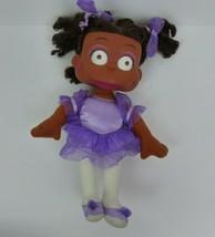 Mattel 1999 Susie Carmichael RUGRATS Plush Doll Purple Ballerina Vinyl Face - $23.33