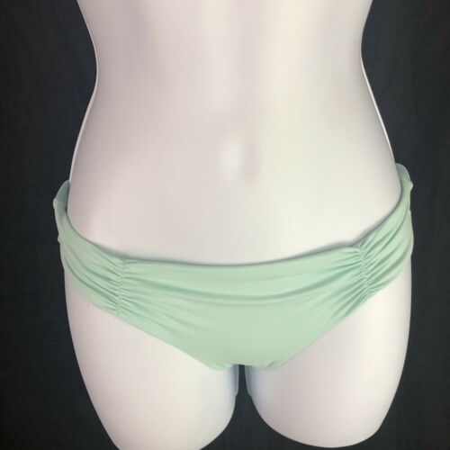 L Space Monique Ruched Side Back Bikini Bottoms Hipster Womens XS Extra Small