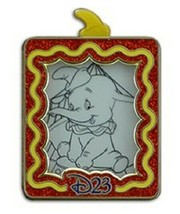 Disney Dumbo Red Glitter Frame Slider D23 Member COMMEMORATIVE COLLECTIO... - $18.95