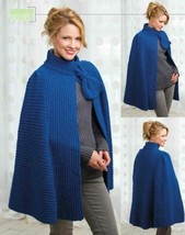 Z677 Crochet PATTERN ONLY Blue Azure Skies Cape Pattern - $8.50
