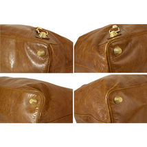 BALENCIAGA Tan Brown Leather Giant 21 Gold Weekender Bag retailed at $2,385  image 4