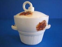 Sugar Bowl & Lid Colonial Fireside Fireplace Log Cabin by Salem China Vi... - $34.12