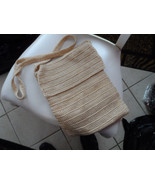 light tan colored woven handbag from Morgan Taylor Studio - $12.00
