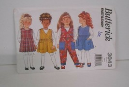 New~1993~Butterick #3043~Szs 2-3-4~Child's Pants/Dress/Jumper w/Pockets ... - $4.95