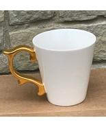 Teavana Baroque Handle Tea Coffee Mug 2015 White Gold Rococo 12 Oz Starb... - $75.99