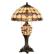Tiffany Style Table Lamp Victorian Desk Lamp Stained Glass Home Décor Lamp - $129.99