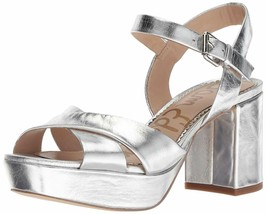 New $130 Sam Edelman Jolene Distressed Metallic Platform Sandal 7.5 - $57.02