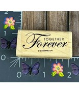 Stampin' Up! Together Forever Rubber Stamp Wedding Anniversary Wood Moun... - $6.92
