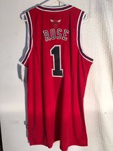 Adidas Swingman NBA Jersey Chicago Bulls Derrick Rose Red sz XL - $9.85
