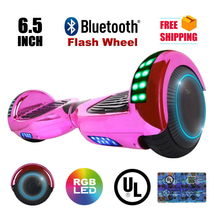 Chrome Pink Flash Wheel Bluetooth Hoverboard Two Wheel Balance Scooter UL2272 - $249.00