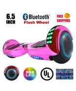 Chrome Pink Flash Wheel Bluetooth Hoverboard Two Wheel Balance Scooter U... - $249.00