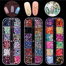 BAHYHAQ - Colorful Nail Art Tips Stickers 3D Laser Makeup Manicure - $3.51