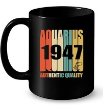 Vintage Aquarius 1947 71st Birthday Gif Gift Coffee Mug - $13.99+