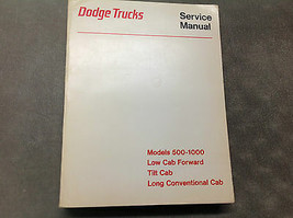 1971 1972 1973 1974 Dodge Truck Models 500-1000 Low Cab Tilt Cab Service Manual  - $59.52