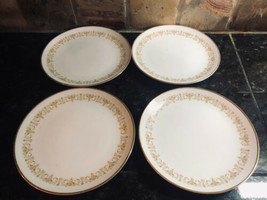 """Sheffield 4 Bread Butter Plates 6-1/4""""  Imperial Gold Trimmed # 504 - $21.29"""