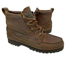 Vtg Polo Ralph Lauren Country Sportsman Hiking Oil Rubbed Leather Boots Women 9  - $39.59
