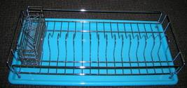 Holiday World Metal Dish Drying Rack W/ Plastic Tray #HW0160  UPC:710534... - £11.00 GBP
