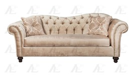 American Eagle AE2600-CH Champagne Tufted Sofa and Loveseat Set Fabric  ... - $2,024.00