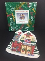Fitz & Floyd Omnibus Christmas Barn Serving Canapé Cookie Candy Plate - $12.16