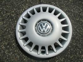one genuine 1999 to 2002 Volkswagen Golf Cabrio 14 inch hubcap wheel cover - $37.01