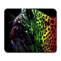 Mouse Pad Tiger Leopard Lion WIld Animal Editions With Rainbow Feather D... - $114,51 MXN