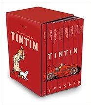 The Complete Adventures of Tintin 8 hardcover Books Boxset by Herge NEW & SEALED