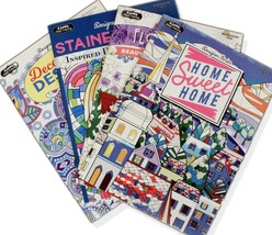 Kappa Adult Coloring Books 4 Total Intricate Designs - $11.74