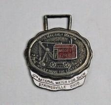 Vintage 1974 10th National Watch Fob Show Pocket Watch Fob - Strongsvill... - $14.30