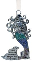 3.5 Inch Zinc Mermazing Mermaid Ornament- Believe In Magic - $133,40 MXN