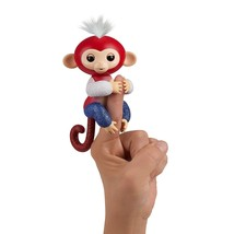 *Limited Edition*Fingerlings Red White & Blue Glitter Monkey~Liberty~Authentic - $26.71