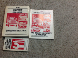 1979 Ford MEDIUM & HEAVY DUTY Truck TRUCKS Service Shop Manual Set W Specs - $128.69