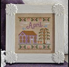 April Cottage of the Month Series cross stitch chart Country Cottage Needleworks - $5.40