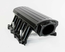 A-Team Ford 302 EFI Fabricated Intake Manifold 11-14 Ford 5.0L Coyote, Black image 1
