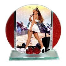 Ariana Grande, Cut Glass Round Plaque, Xmas Ltd Edition | Cellini Plaque... - $31.44