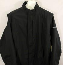 FootJoy DryJoys Golf Jacket Rainwear Waterproof Full Zip Black Large - $27.71