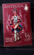 Stamps Antigua 1970 Military Uniforms Drummer Boy 4th King's Own Regimen... - $10.00
