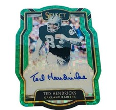 Ted Hendricks Autograph Raiders 2/3 Select Panini Prizm Green Auto HOF s... - $296.95