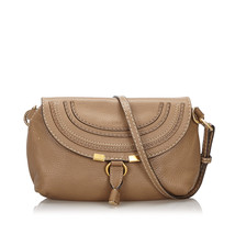Pre-Loved Chloe Brown Light Others Leather Small Marcie Crossbody Bag Fr... - $433.84