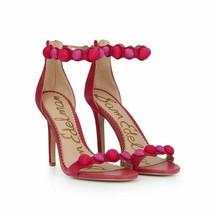 Sam Edelman Womens Size 10 M Addison Deep Pink Suede Heeled Sandal Heels Shoes - $84.15