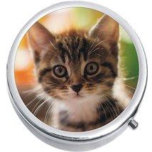 Cute Cat Kitty Medicine Vitamin Compact Pill Box - $9.78