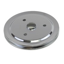 Crankshaft Pulley Single-Groove SWP Short Water Pump For Chevy SBC 262 302 350 image 2