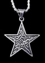 LOOK Sterling Silver Islamic Allah Star charm Muslim Islam - $15.38